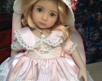 """Dianna Effner Little Darling Doll """"Silk and Bows """" with Regency Bonnet Ensemble, No Doll"""