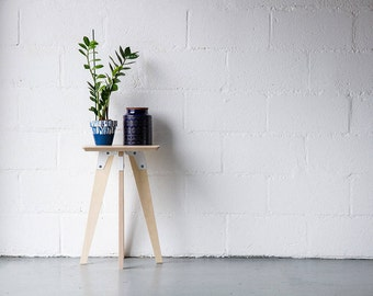 Side table, Plant Stand, Bedside table, End Table, Mid century, Brutalist, Pantone, ModSys.