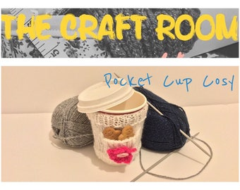 Handmade Pocket Cup Cosy, gift under 5, free postage