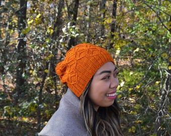 Beehive hat - brunt orange