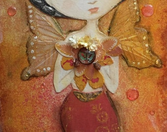 Mermaid Frida Kahlo original painting