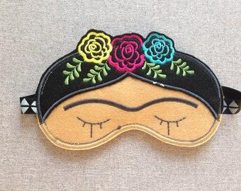 Frida Kahlo, Frida Go To Sleep, Eyebrows Sleep Mask, Sleeping Frida Eye Mask, Eye Pillow, Feminist Present, Travel Mask, Woman's Sleep Mask