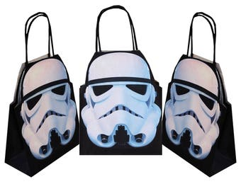 Personalised Star Wars Storm Trooper Party Gift Bags for Birthdays and other occasions Packs of 5, 10, 15, 20, 25, 30, 35, 40