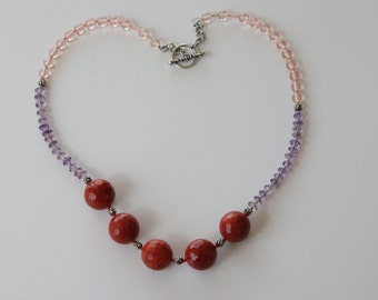 Red coral and glass
