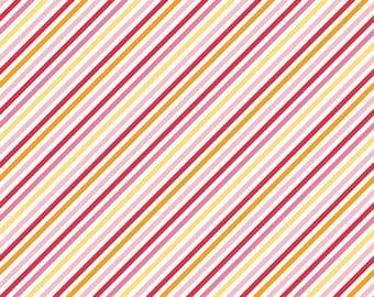 """SALE Riley Blake Designs """"Fancy Free"""" by Lori Whitlock . 100% cotton, pattern C4064 Pink - Stripe Fabric"""