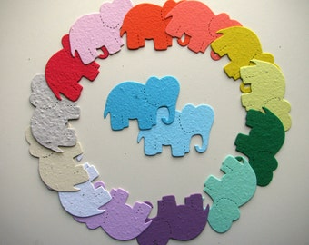 25 Seed Paper Baby Elephants