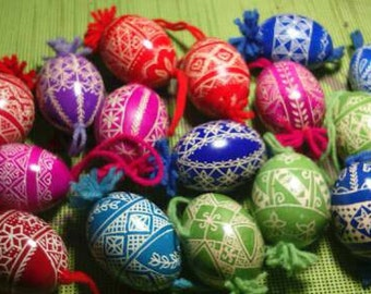 Traditional Slovenian Easter eggs (Slovenian Pisanice) with a modern twist