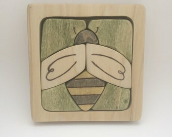 Wooden Bee Puzzle  // Nature Inspired Puzzle  //  Wood Puzzle