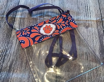 Clemson Clear Game Day Cross-body Bag Stadium Approved Personalized
