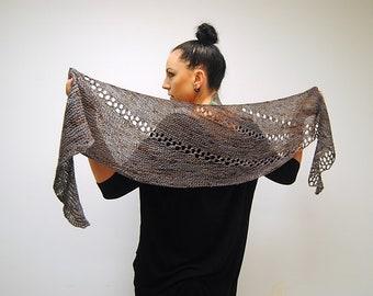 AUSPICE Knitting Pattern PDF Fingering Weight Shawl