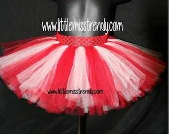 Red and White Tutu, Tutu Skirts, Children's Tutu Skirts, Christmas tutu, Red and White Christmas Tutu