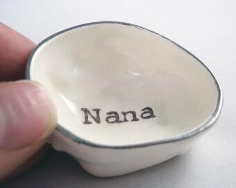 valentine GIFT FOR GRANDMA / bridal shower gift / gift for mom / last minute gift for nana/ pill holder / ring dish for grams / pill dish