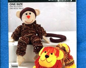 Simplicity 2240 Yo-Yo's  Monkey & Lion Toys Pattern UNCUT