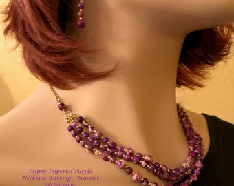 Jasper: Imperial Purple Necklace
