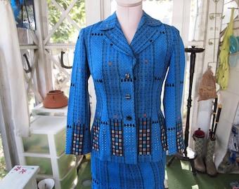 Yoko Suit, Yoko Business Suit, Women's Suit, Skirt Set, Modern Patterned Suit, Skirt and Jacket, Ladies Suit, Business Suit, Womens Clothing