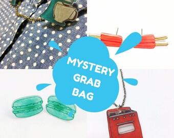 Mystère boîte bijoux sac Surprise cadeau Pack faveurs pendentif collier breloque boucles d'oreilles Boucles d'oreilles broches pour son affaire de parti Mixed Bag