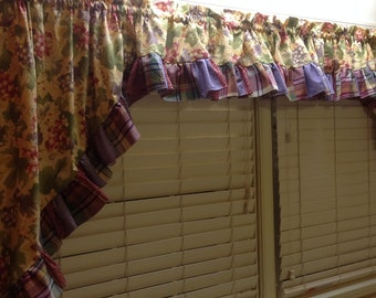 Homemade Quilted Kitchen Window Curtains