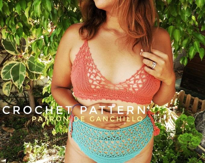 Featured listing image: Crochet Pattern Bikini Set Here Comes the Sun