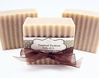 Tropical Fusion Soap, Cold Process Soap, Handmade Soap, Floral Soap, Buttermilk, Tropical Scent, Soap Bar, Body Soap