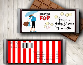 Candy Bar Wrapper, Baby Shower Candy Bar Wrapper, Baby Shower Party Favors, Baby Shower Supplies, Hershey Bar Wrapper, Chocolate Wrapper