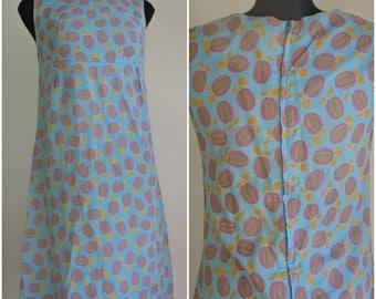 70s Cotton Novelty Dress