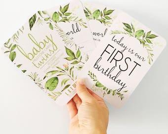 TWINS - Baby Milestone Cards