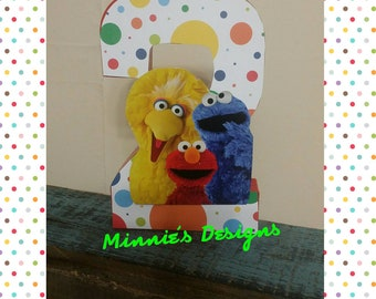 Sesame Street birthday, Sesame Street party favors,Sesame Street cake table ,Sesame Street letter props,Sesame Street 2nd birthday,READ