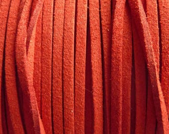 Roll 90 m P0400 red 3 mm suede cord
