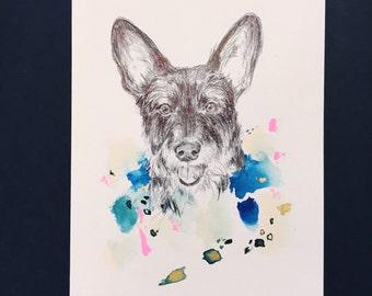 Custom Pet Portrait - Abstract Art, Abstract painting, Personalized dog art, pet art, English bulldog art, bulldog art, german shepherd