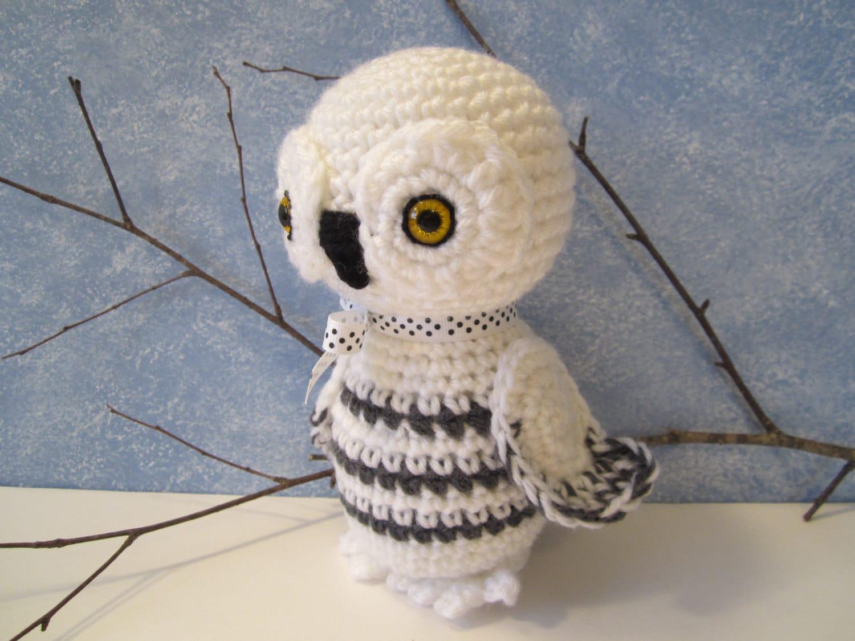 Cute Little Amigurumi Owl : Crochet snowy owl crochet stuffed owl amigurumi owl snowy