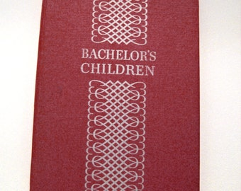 Bachelor's Children 1939 Vintage Book from Daytime Drama Radio Broadcast. Soap Opera Collector Book, Old Dutch Cleanser, Red Hardback..