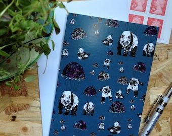 Pandamonium Blue // Greetings Card - Blank