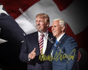 DONALD TRUMP Signed Reprint Make America Great Again Photo 2016 President DT15