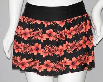 Tropical Hibiscus Running Skirt