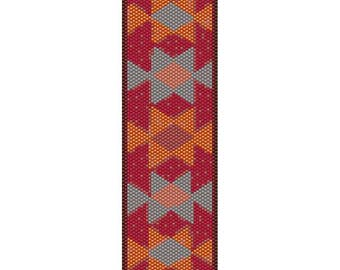 Tribal 6 Peyote Bead Pattern, Bracelet Cuff Pattern, Bookmark, Seed Beading Pattern Miyuki Delica Size 11 Beads - PDF Instant Download