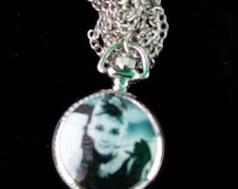 Retro 'Audrey Hepburn' Necklace / Watch