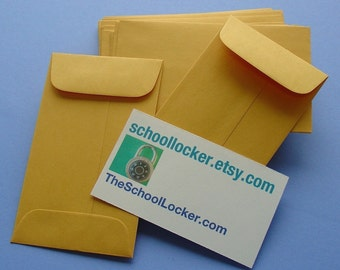 96 little kraft envelopes  / for business cards & enclosures / bulk sale price