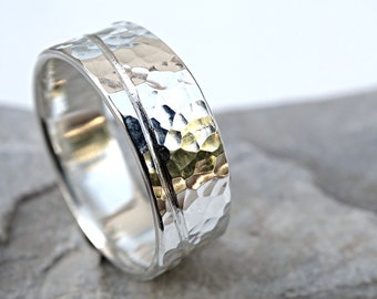 wave ring silver beach, mens engagement ring, unique mens ring, engraved silver ring, silver wedding ring, structured ring silver ring ocean
