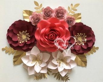 Mini floral arrangement, paper flowers, mini paper flowers,