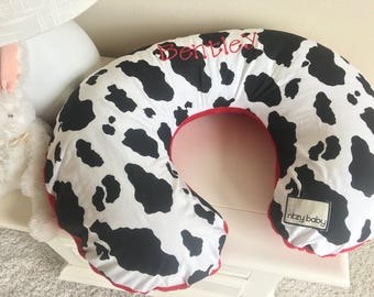 Cow Nursing Pillow Cover, Western Boppy Cover, Southern Boppy Cover, Baby Boy Nursing Pillow Cover, Red Boppy Cover