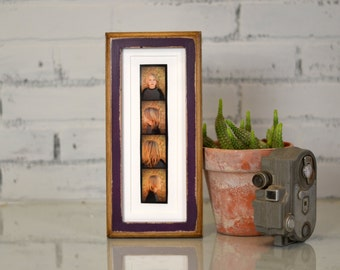 4x10 Picture Frame for PHOTO BOOTH STRIP in 1x1 2-Tone Style and Color of Your Choice - Photo Booth Frame - for 2x8 Photo Booth  Strip Frame