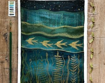 Celestial Watercolor // emerald sanctuary