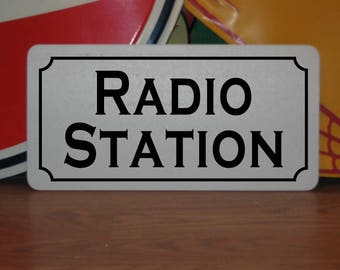 RADIO STATION Metal Sign