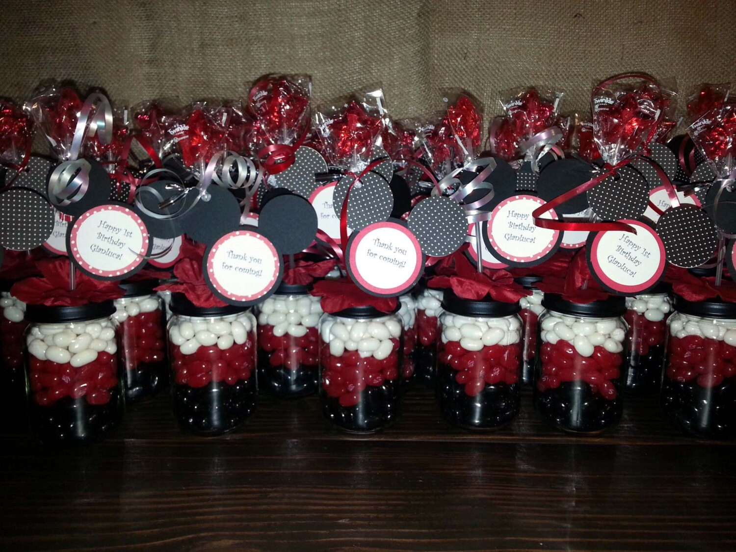 Mickey Mouse Party Favors Baby Food Jar Favor Candy