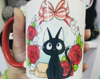 Ghibli Jiji cat mug - kiki's delivery service