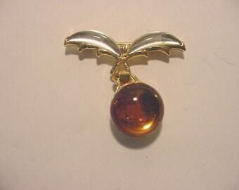 Vintage Made In France Dangle Brooch   12 - 532