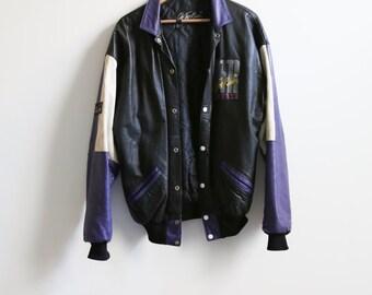 Vintage & Rare OTR Varsity Leather Jacket