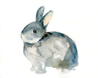 BUNNY-10x8inch print-Children's Decor-Art for Children-kids wall art-Nursery art -Animal lover
