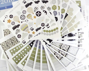 200+ Steampunk Stickers Set for your Erin Condren Life Planner