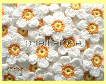 Crochet Flowers 12 pieces